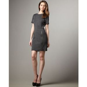 Burberry Brit Gray wool sheath zipper dress